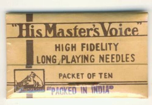 His Master/'s Voice High Fidelity Long playing needles Packet of 10