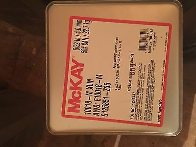 NEW McKAY 10018-M XLM 5//32 INCH 22.7 KG CAN 4.0 MM WELDING RODS 50LB