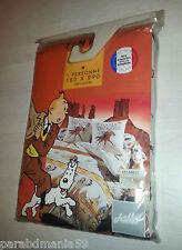 Vente Hergé-Tintin-Ancien drap-Tintin en Amérique-neuf-emballage d origine