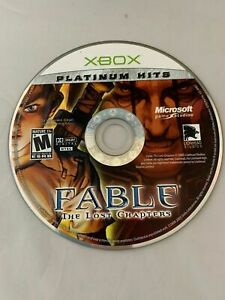 Fable: The Lost Chapters (Platinum Hits) (Microsoft Xbox, 2005) Disc Only tested