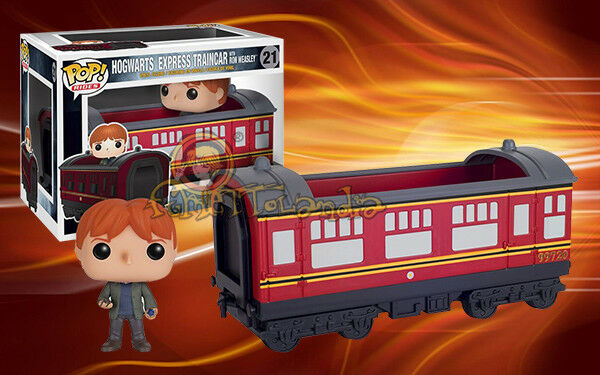 Funko Pop Hogwarts Express Vagón de Tren With Ron Weasley 21 Potter Figura 12cm