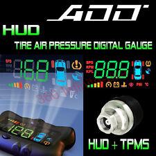 ADD HUD SPEED HEAD UP DISPLAY + Wireless Tire Pressure system + add on Sensor
