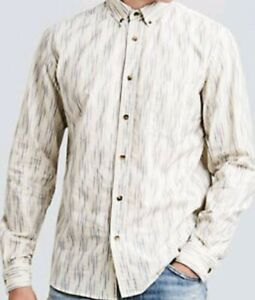 Levi-039-s-Made-Crafted-small-Standard-men-Shirt-Ikat-NWT-sz1-Italian-cotton-278