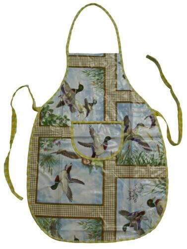 Œuvres tablier lavable Latzschürze Tablier de toile cirée motif canards