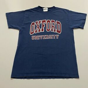 Vintage-Oxford-University-T-Shirt-Size-M-Blue-Spell-Out-College-90s-Retro