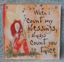 """Quotable Magnet /""""When I Count My Blessings Funny Novelty Fridge Magnet"""