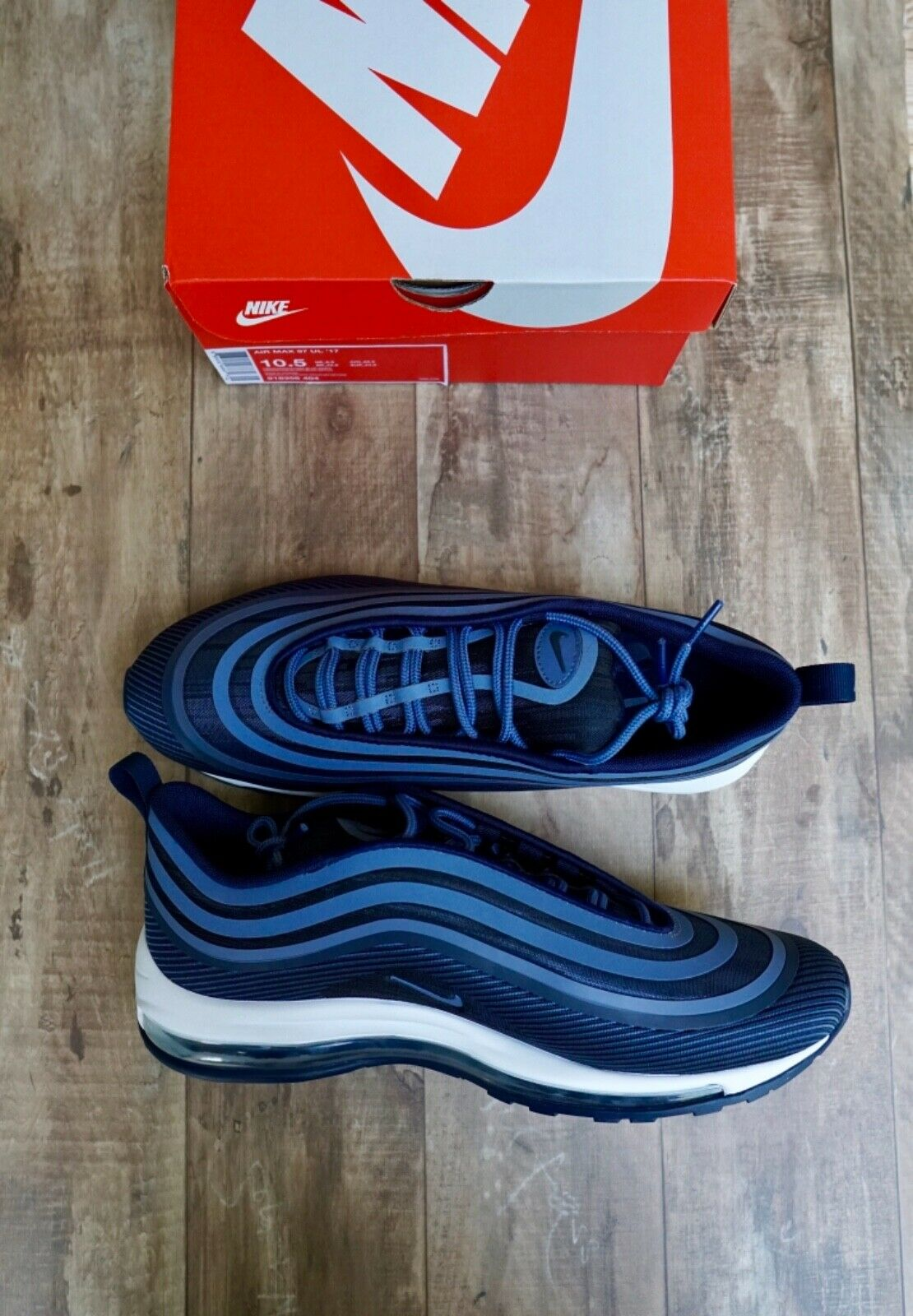 New Nike Air Max 97 Ultra '17 Men's shoes Obsidian Diffused bluee 918356-404