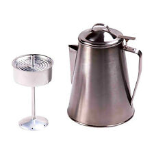 Coffee Pot Stainless Steel Ozark Trail 8-Cup outdoor Kettle Brewer Camping