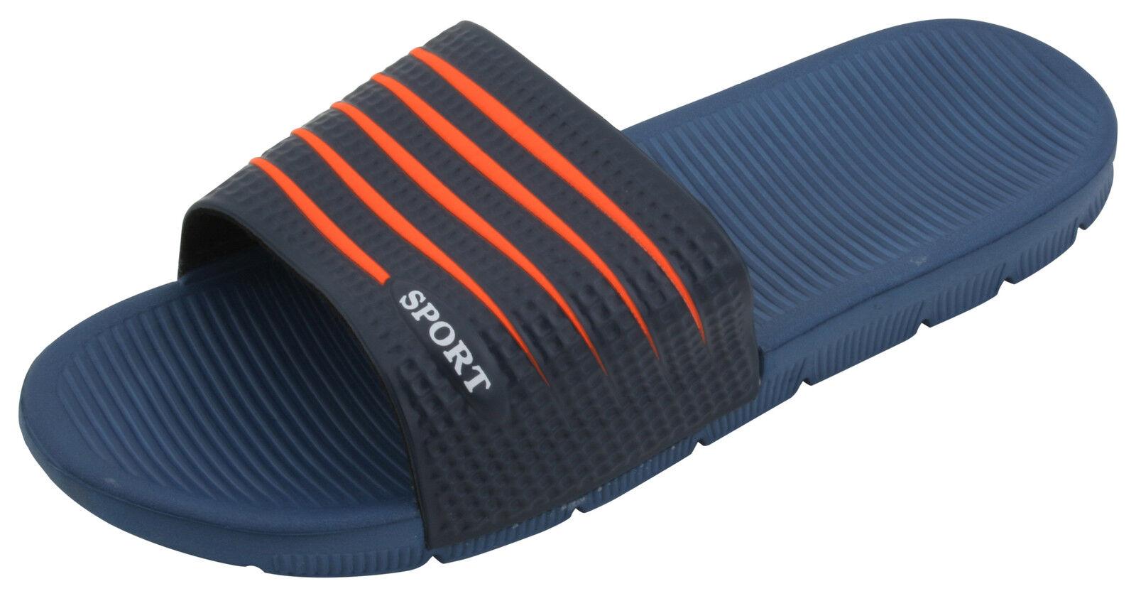 Sandrocks Mens Two Tone Pool Slide Sandal Flip Flop