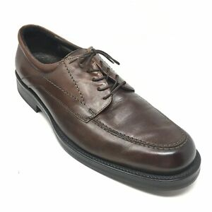 Men-039-s-Bostonian-Oxfords-Dress-Shoes-Size-11-5M-Brown-Leather-Made-Italy-AF8