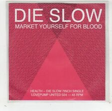(FW378) Die Slow, Market Yourself For Blood - 2009 DJ CD