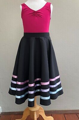 with pink ribbon Ellis Bella character skirt for ballet size K6 to K12