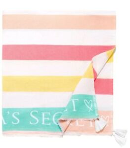 VICTORIA/'S SECRET STRIPED BEACH BLANKET THROW NEW