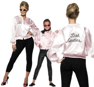 Grease-Pink-Ladies-Jacket-Fancy-Dress-Costume-Official-Licenced-Outfit-New