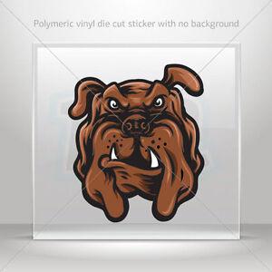 Sticker Decal Dog Bulldog Head Helmet Motorbike Bike Garage st5 W956W