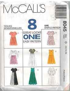 8045-Vintage-McCalls-SEWING-Pattern-Misses-Eight-Easy-EZ-Dress-UNCUT