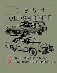 bishko oem 1986 oldsmobile cutlass supreme cutlass salon 442 service rh ebay com 1997 oldsmobile cutlass supreme owner's manual 1972 Oldsmobile Cutlass Supreme