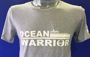 The-MV-Ocean-Warrior-Unisex-Sea-Shepherd-T-shirt-Grey-EU-Sizes-not-UK-sizes