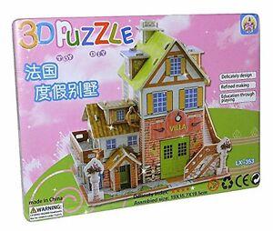 CIUDAD-VILLA-CASA-DE-JUEGOS-3d-Juguete-Puzzle-NUEVO-lx-353