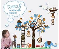 Xxl Wandtattoo Afrika Baum Tiere Wald Ii Wandsticker Kinderzimmer Deko Aufkleber