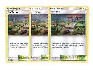 3x-Po-Town-121-147-Pokemon-Soleil-amp-Lune-Burning-Shadows-Trainer-NM