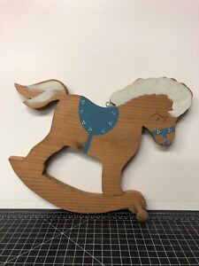 Vintage-Hand-Painted-Wooden-Horse-Toy-Hanging-Coat-Rack-Pony-Toy-13x10