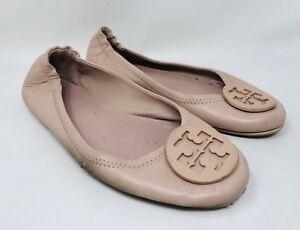 ee7a223b5ed Tory Burch Women s Minnie Travel Ballet Flats Size 7 Goan Sand ...