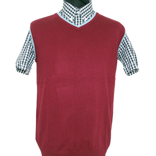 Warrior UK England Burgundy Tank Top Sleeveless Sweater Pullover Skinhead Mod Oi