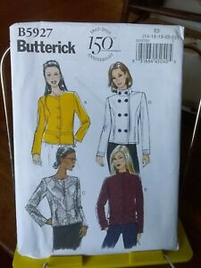 Oop-Butterick-5927-misses-jacket-lined-double-breasted-sz-14-22-NEW