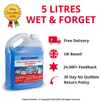 Drives-New 5 Litres Wet And Forget Mould Algae And Lichen Removal For Fencing