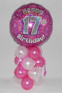 Image Is Loading 17TH BIRTHDAY AGE 17 GIRLS PINK FOIL BALLOON