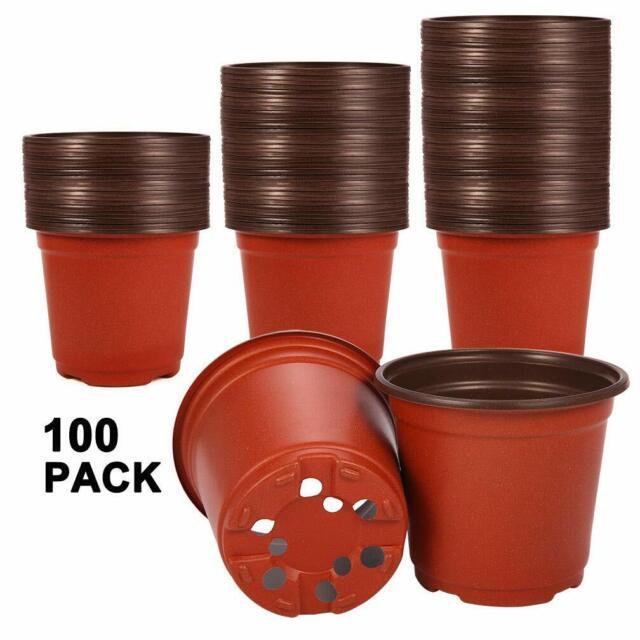 100pcs Plant Pots Small  Plastic Flower Pot Cactus Tiny High Quality Attachment
