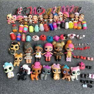 100Pcs Real Lol Surpresa Unicórnio Punk Boy Menino Abelha Rainha Lil Boneca Pet Brinquedo Presentes
