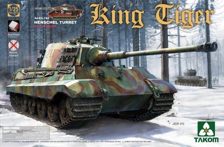 Sd.Kfz.182  KING TIGER  Tourelle Henschel - KIT TAKOM INTERNATIONAL 1 35 n° 2073