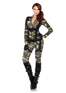 Womens sexy army costume