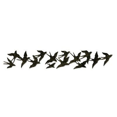 Sizzix Sizzlits Decorative Strip Cutting Die - BIRDS IN FLIGHT Tim Holtz 659425
