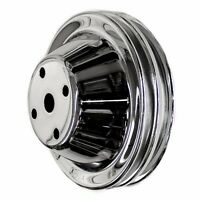 Chrome 2 Groove Water Pump Pulley Fits Small Block Chevy Long Water Pump Sbc 350