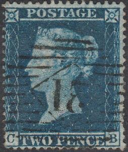 1858-SG36a-2d-DEEP-BLUE-PLATE-6-FINE-USED-SCARCE-LONDON-21-INLAND-CANCEL-CB