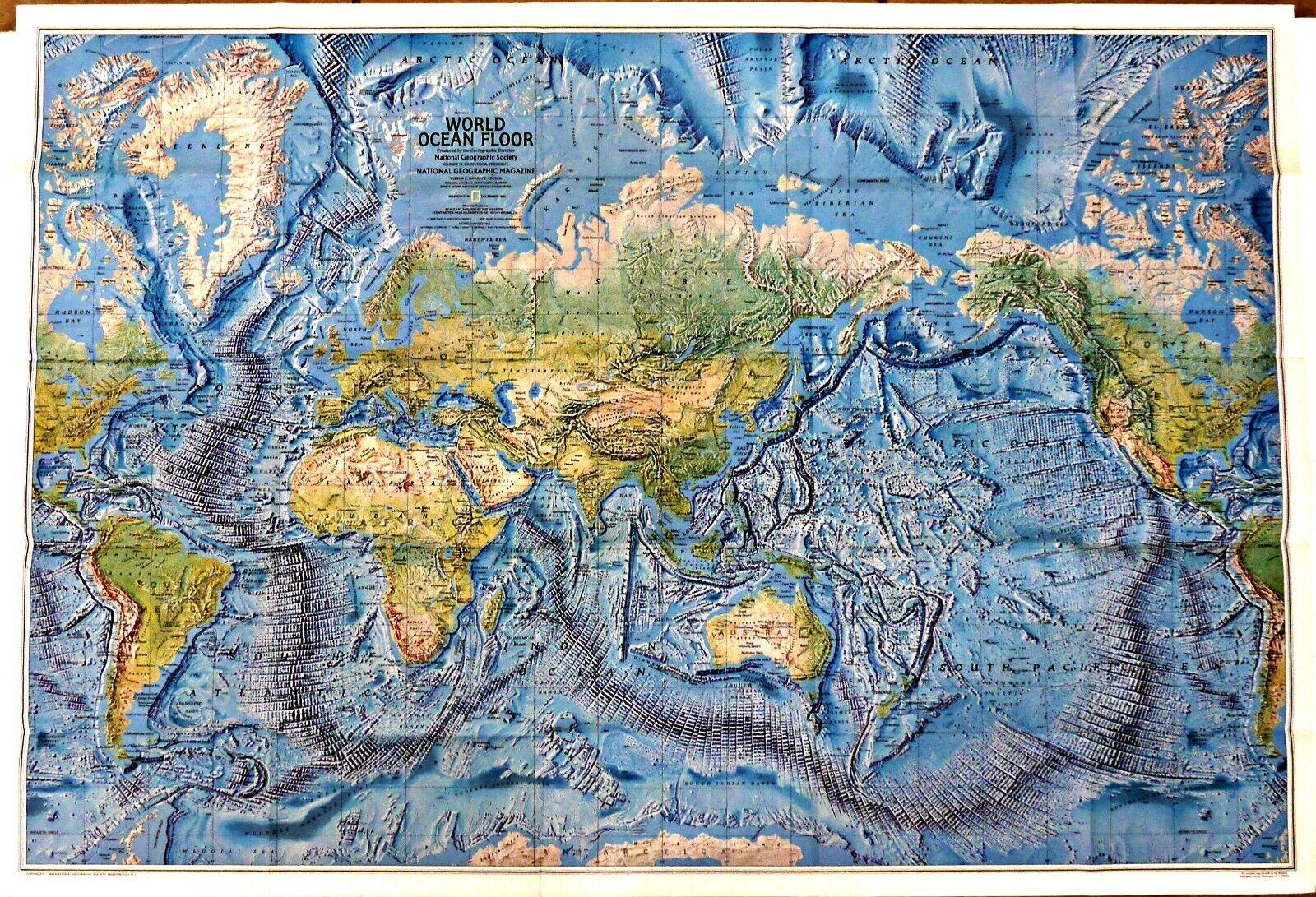 World Ocean Floor Map for sale online