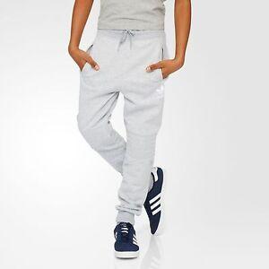 new arrival b87e2 debf7 Image is loading adidas-Originals-boys-grey-track-pant-Jogging-bottom-