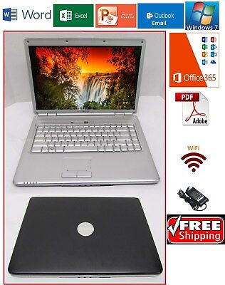 Dell Inspiron Laptop Windows 7 Micrososft Office 365 Wifi Good Battery Charger Ebay