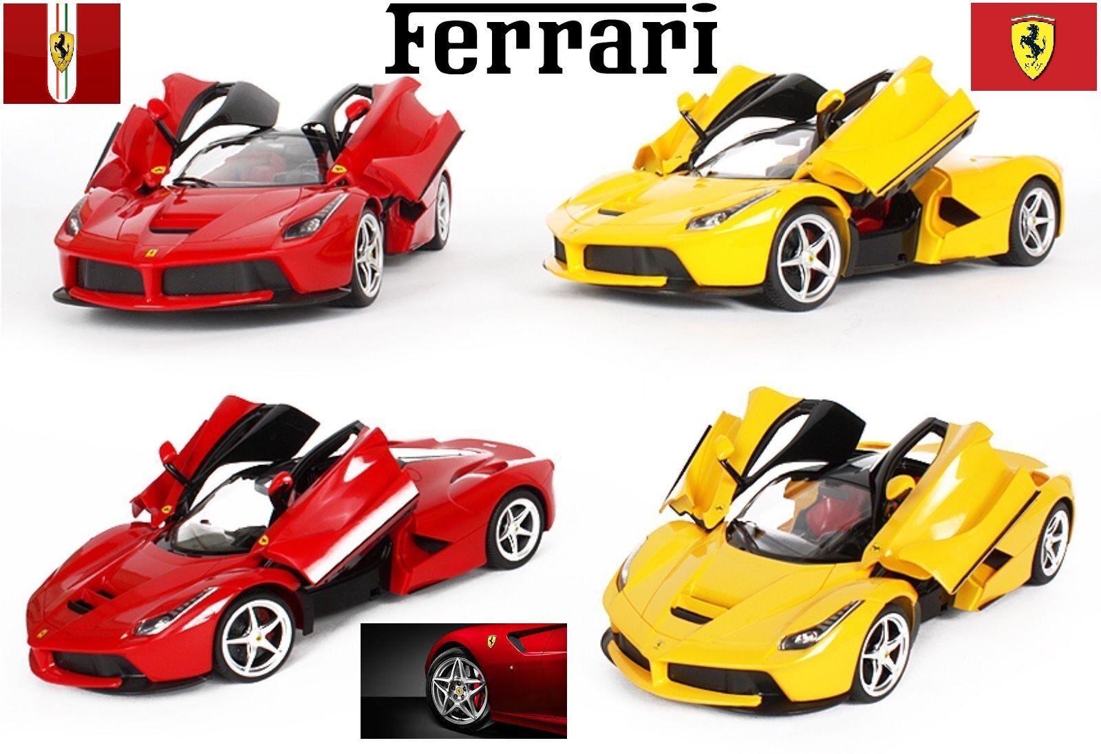 LA Ferrari Licensed Radio Remote Control bil 1 14 Scale röd och gul RC Toy Gift