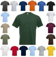 FRUIT OF THE LOOM SUPER PREMIUM T-Shirt kurzarm Rundhals - S M L XL XXL 3XL(2)