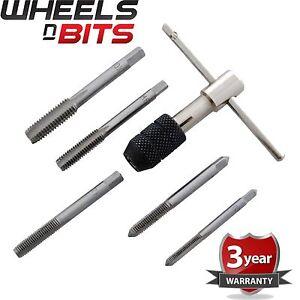 6PC Tap Wrench Set M6 M7 M8 M10 M12 T-poignée avec robinet Chuck