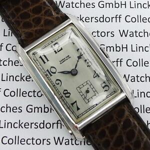 A-Lange-amp-Soehne-Curvex-Herren-Armbanduhr-Stahl-Chrom-von-1940-mit-Stammbuchausz