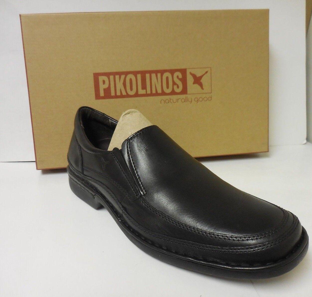 Pikolinos Chaussures Classique Homme en Cuir Noir Mocassins 08f5017 Tailles 42