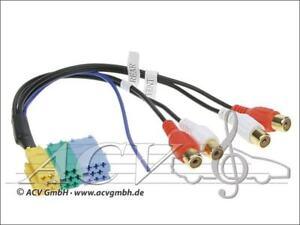 VDO-Grundig-Philips-Becker-Blaupunkt-Mini-ISO-Stecker-4-Cinch-Buchsen-Adapter