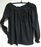 Lilo Maternity Boatneck Top Tee Black Size Xs