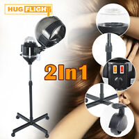 2in1 Hair & Facial Steamer Tower Hair Hood Conditioning Coloring Perm Processor
