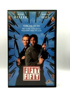 VHS-Film-Ita-Azione-FIFTY-FIFTY-peter-weller-robert-hays-VIDEOCASSETTA